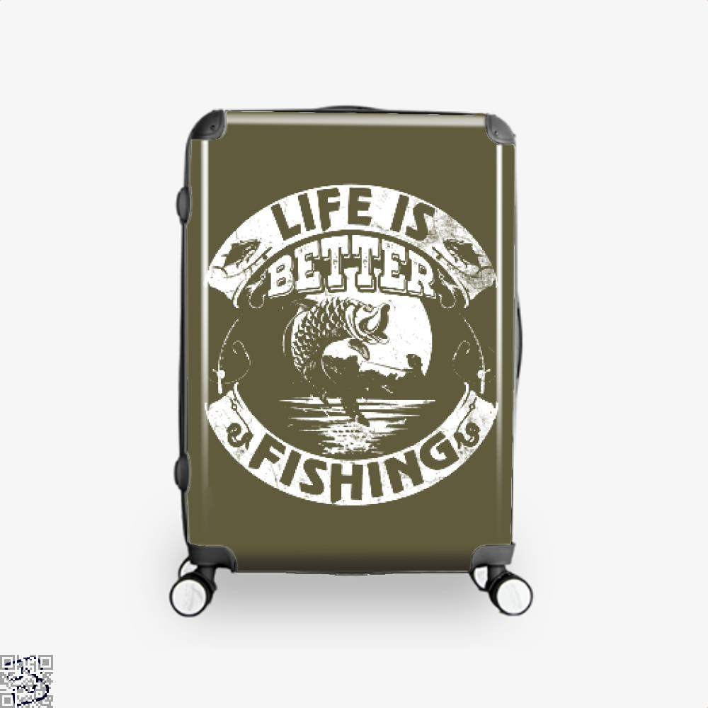 Life Is Better Fishing Suitcase - Brown / 16 - Productgenjpg