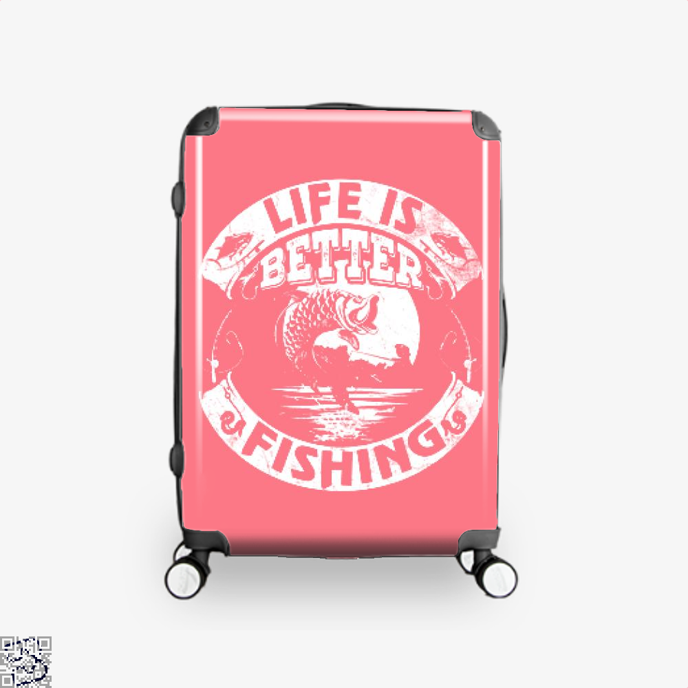 Life Is Better Fishing Suitcase - Pink / 16 - Productgenjpg