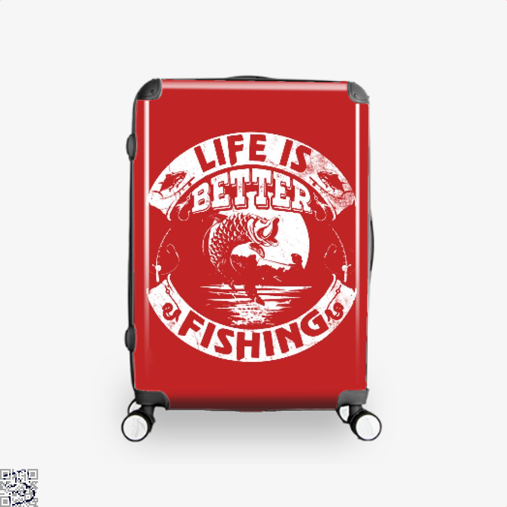 Life Is Better Fishing Suitcase - Red / 16 - Productgenjpg