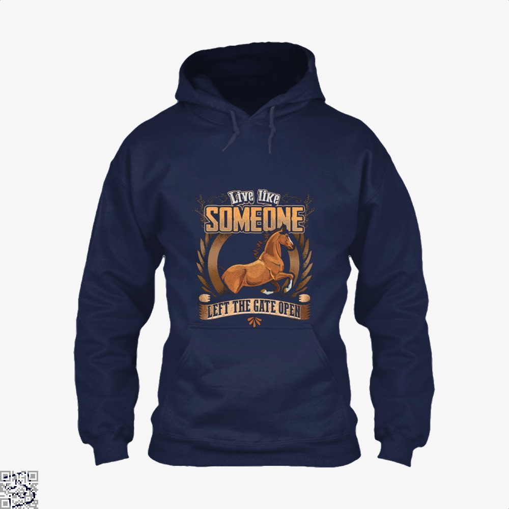 Live Free Horse Lover Hoodie - Blue / X-Small - Productgenjpg