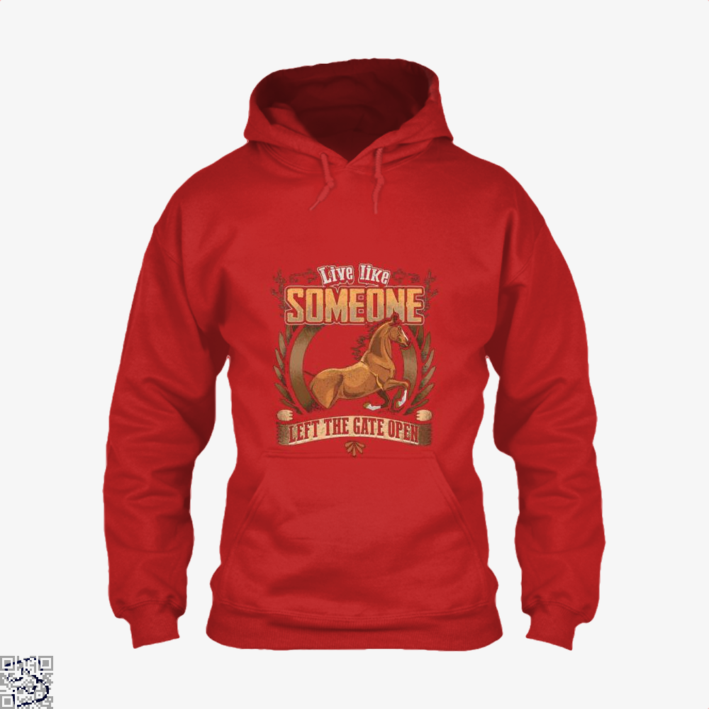 Live Free Horse Lover Hoodie - Red / X-Small - Productgenjpg