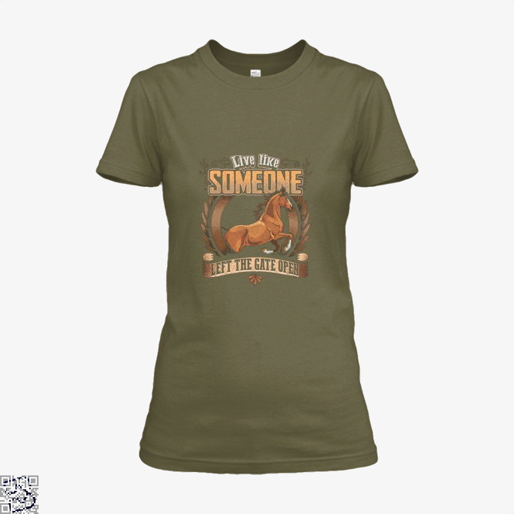 Live Free Horse Lover Shirt - Women / Brown / X-Small - Productgenjpg