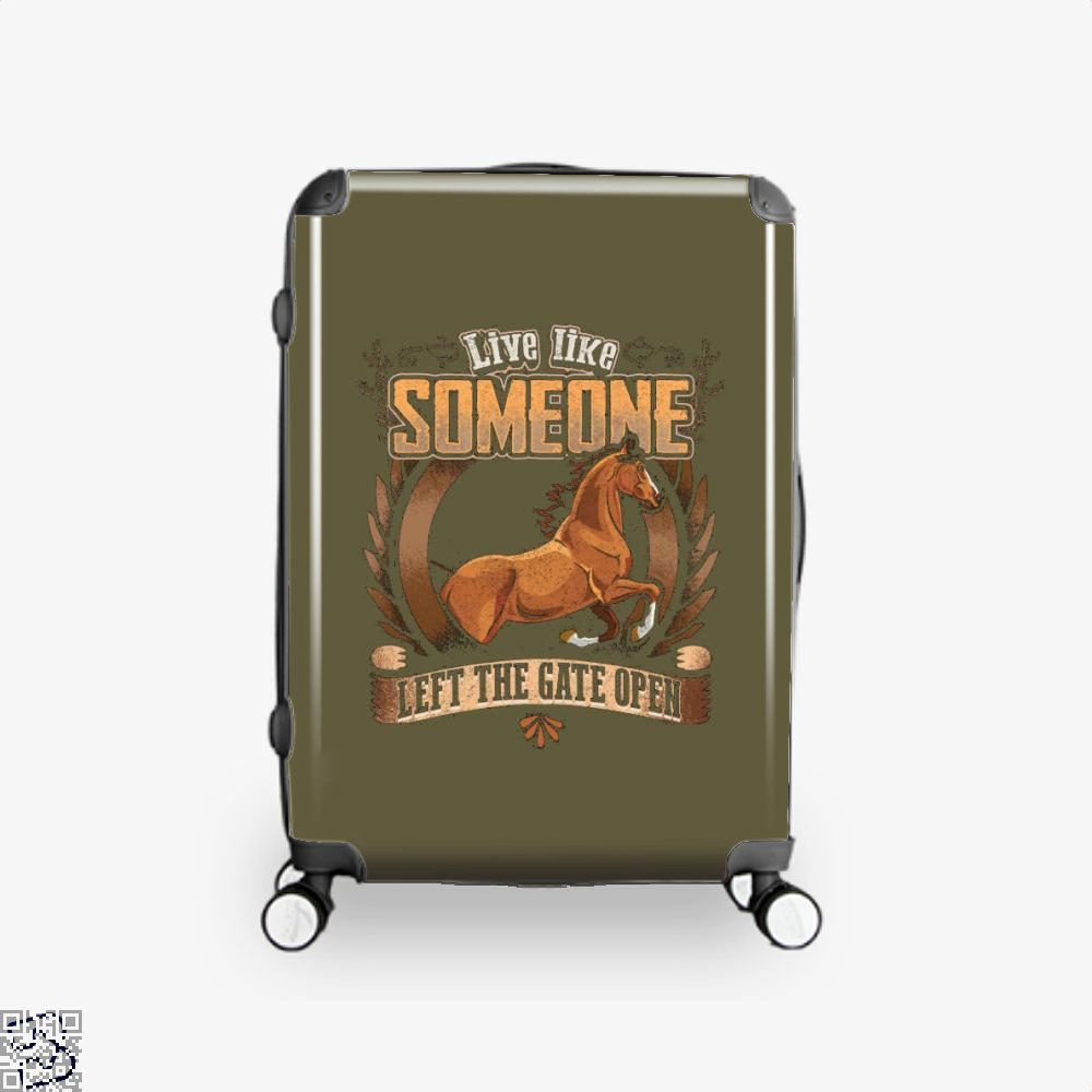 Live Free Horse Lover Suitcase - Brown / 16 - Productgenjpg