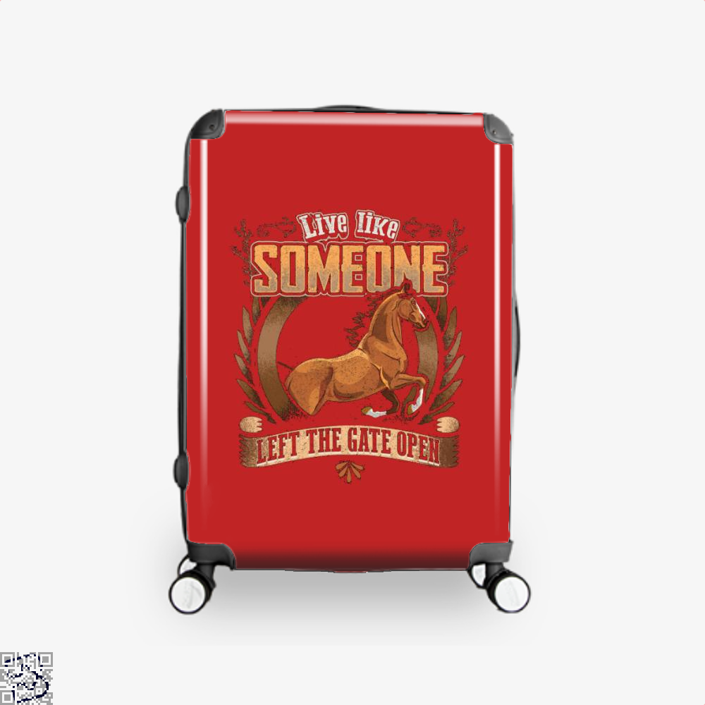 Live Free Horse Lover Suitcase - Red / 16 - Productgenjpg