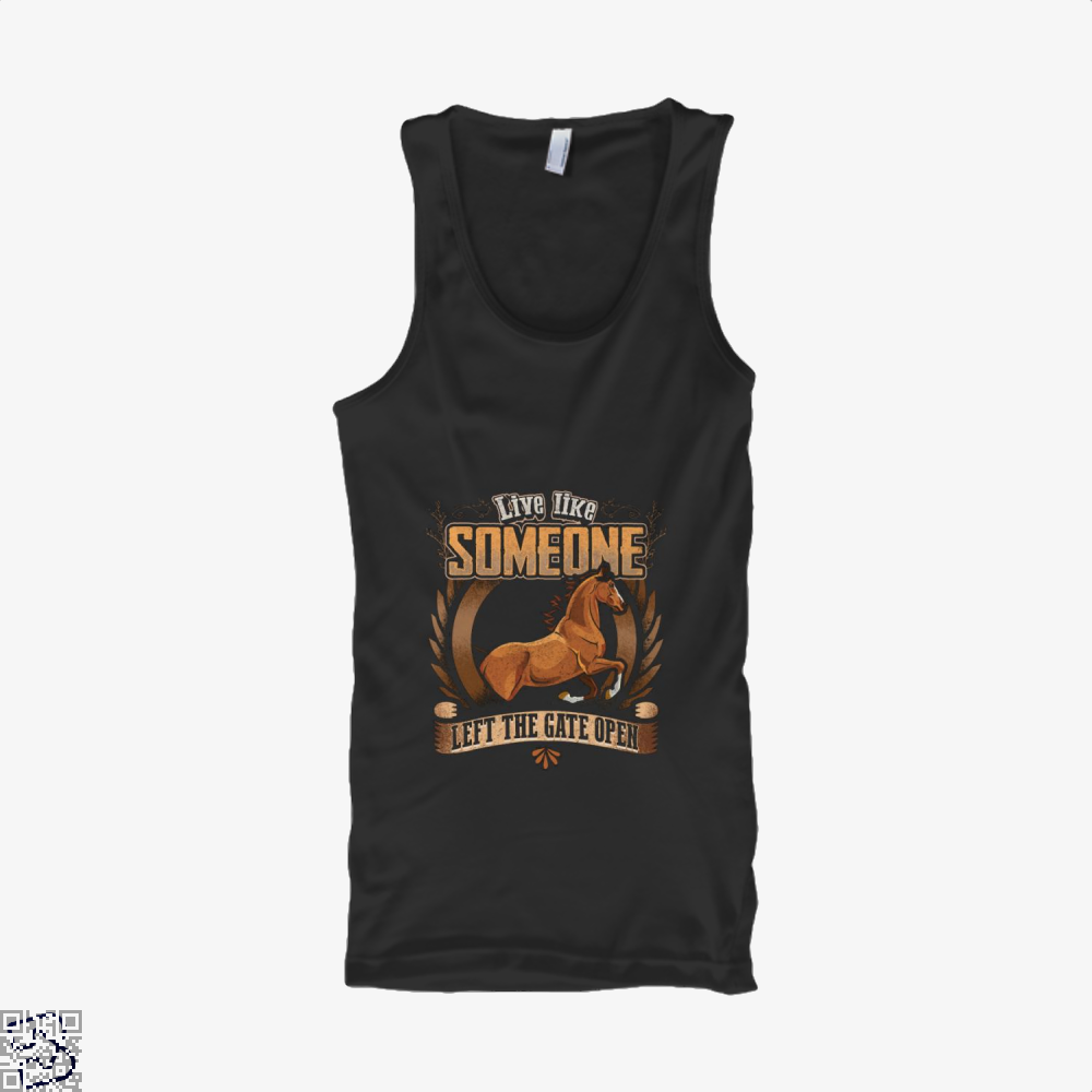 Live Free Horse Lover Tank Top - Women / Black / X-Small - Productgenjpg