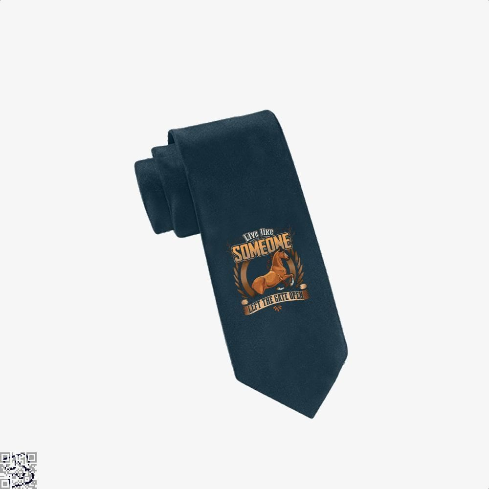 Live Free Horse Lover Tie - Navy - Productgenjpg