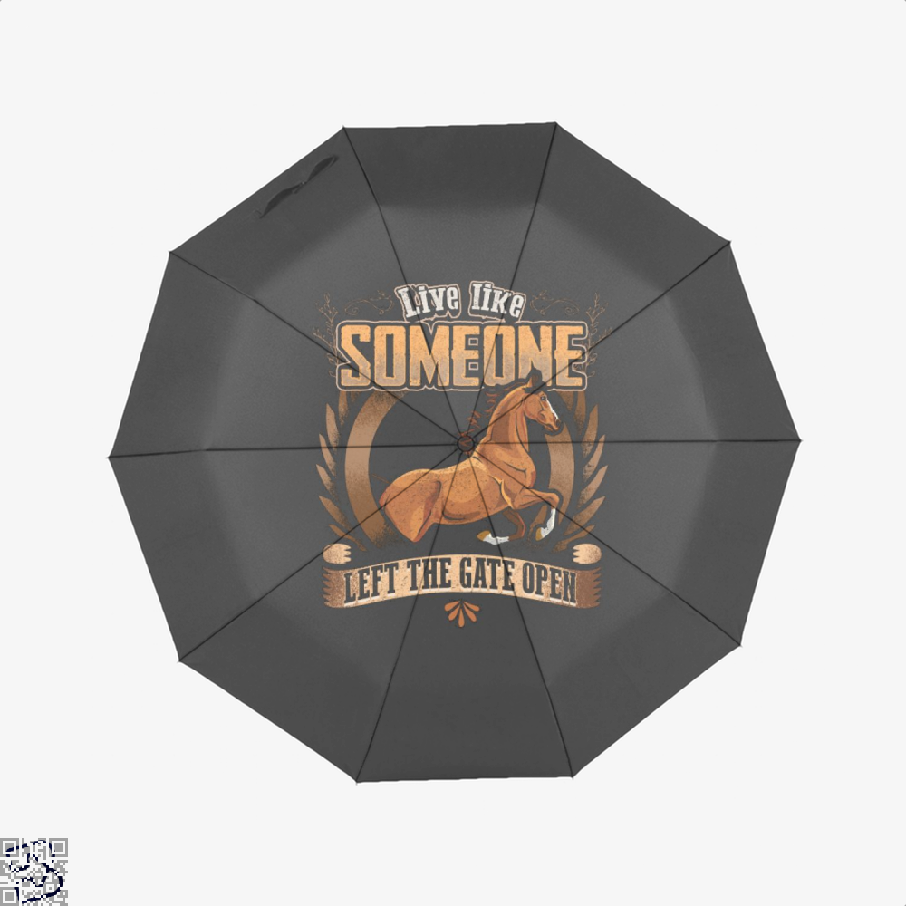 Live Free Horse Lover Umbrella - Black - Productgenjpg