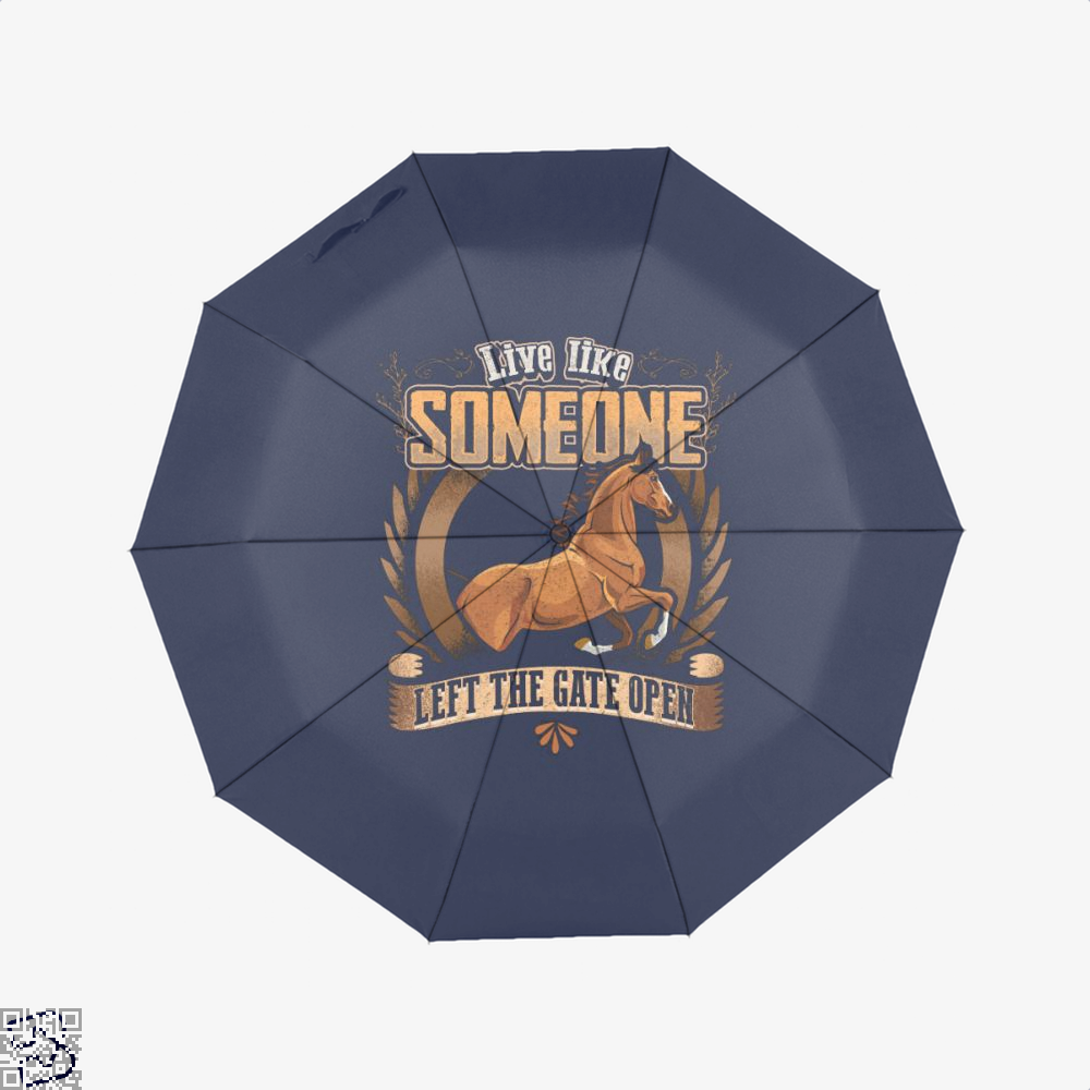 Live Free Horse Lover Umbrella - Blue - Productgenjpg