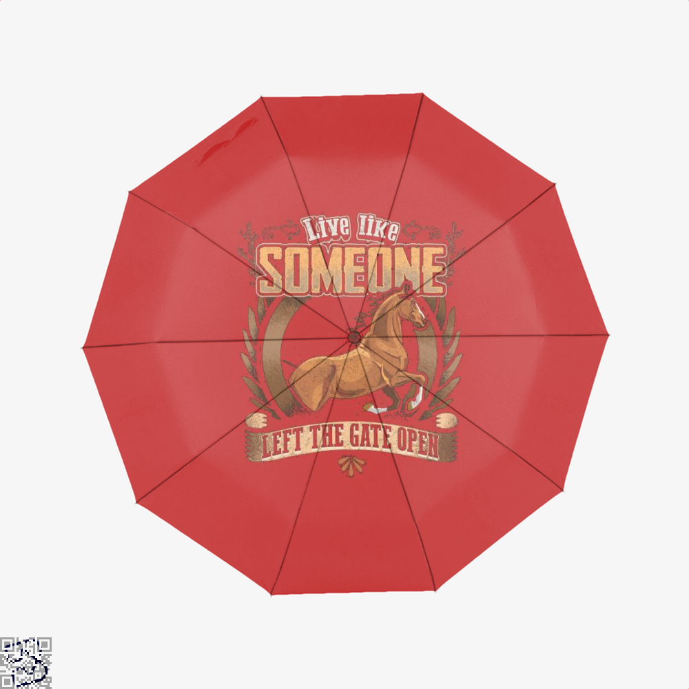 Live Free Horse Lover Umbrella - Red - Productgenjpg