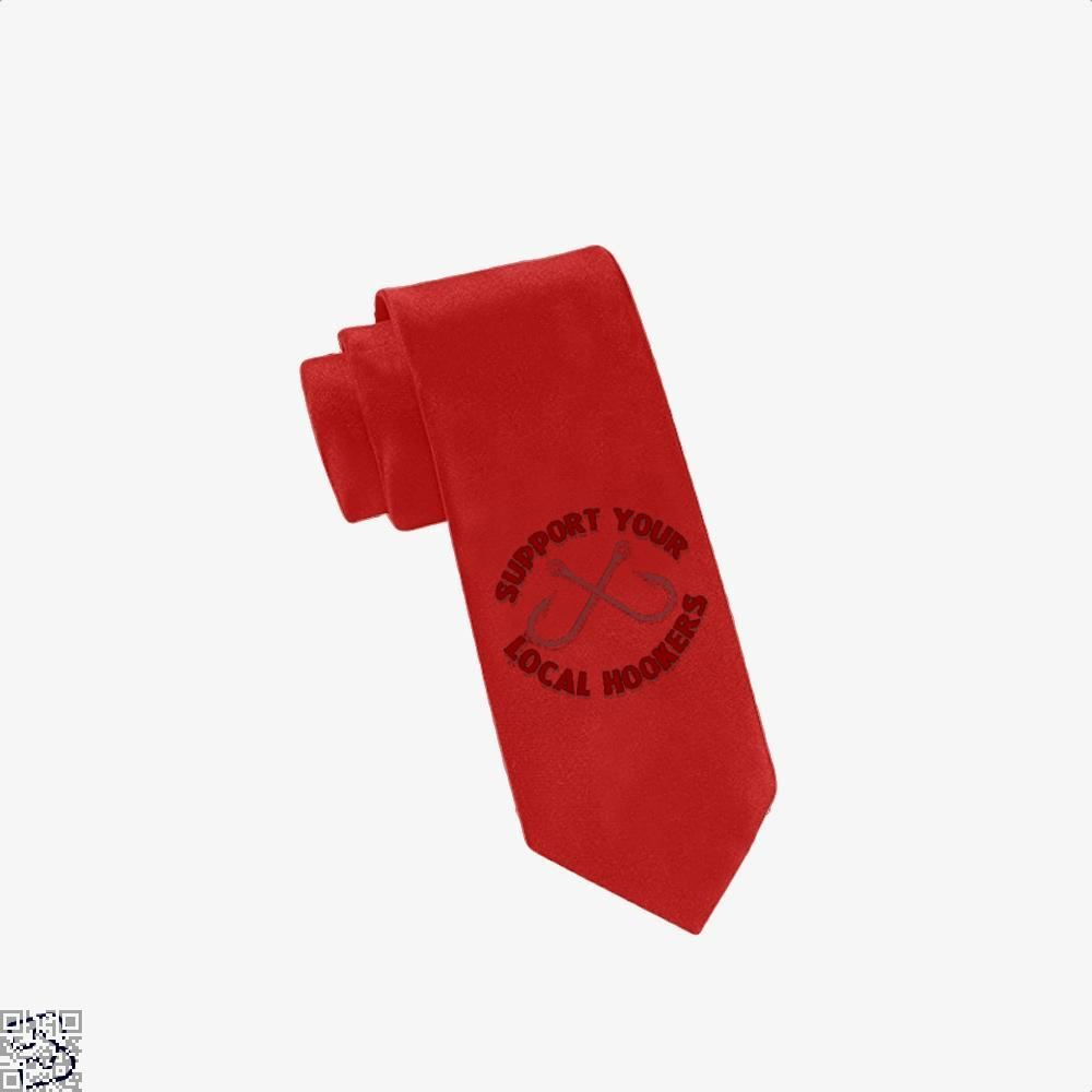 Local Hookers Fishing Tie - Red - Productgenjpg