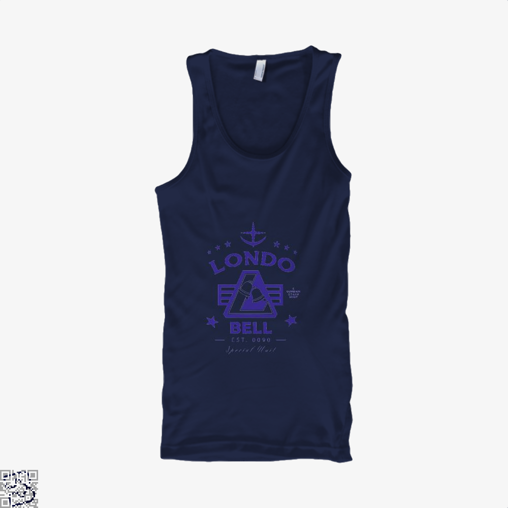 Londo Bell Gundam Tank Top - Men / Blue / X-Small - Productgenjpg