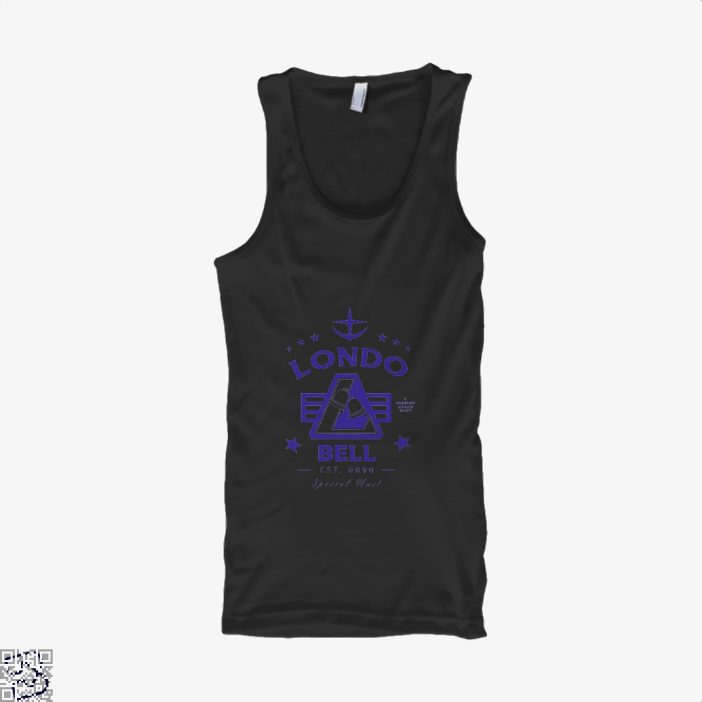 Londo Bell Gundam Tank Top - Women / Black / X-Small - Productgenjpg