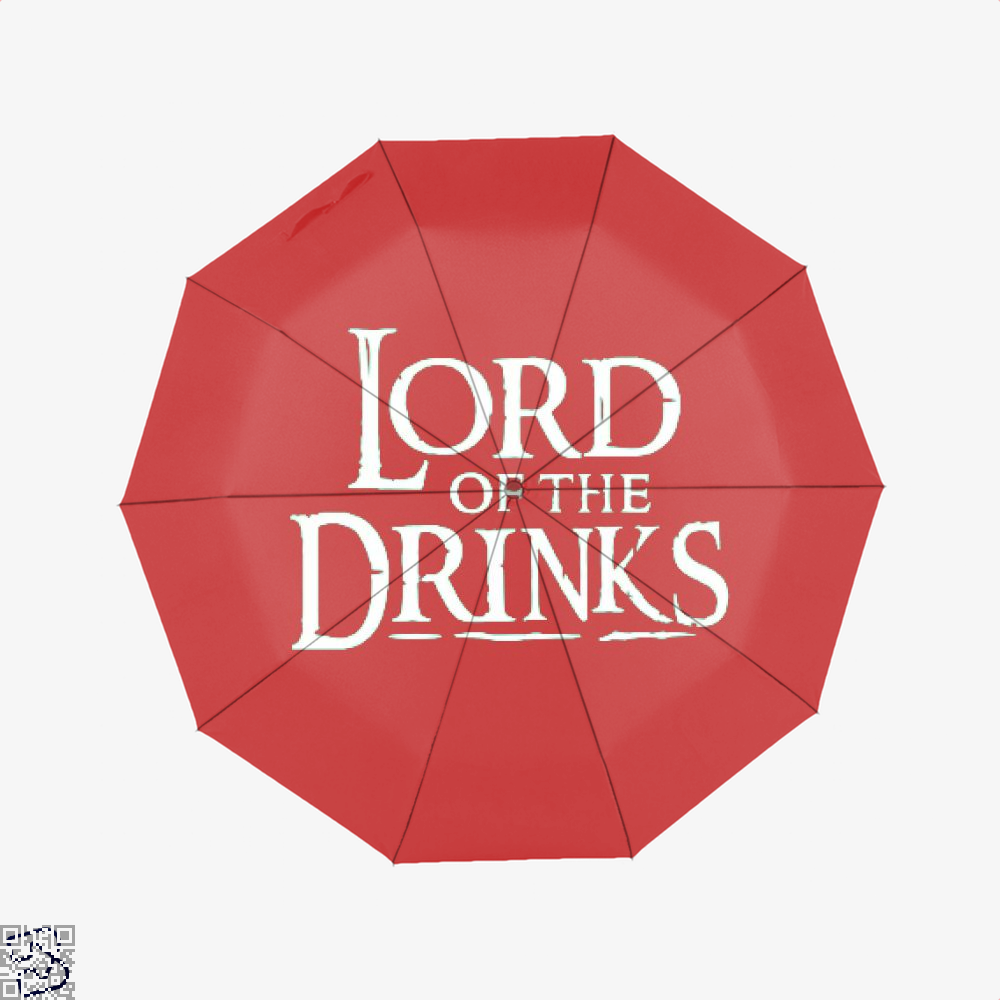 Lord Of The Drinks Irish Clover Umbrella - Red - Productgenjpg