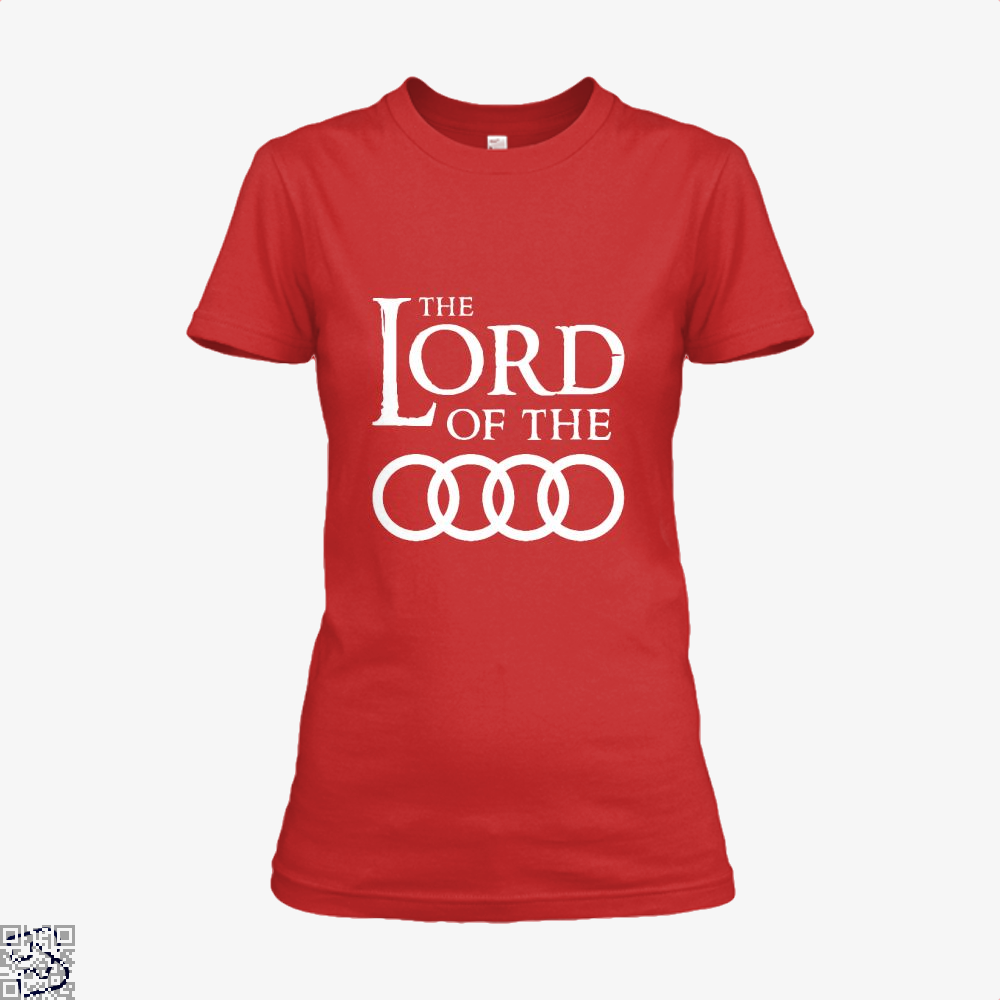 Lord Of The Roads Rings Shirt - Women / Red / X-Small - Productgenapi