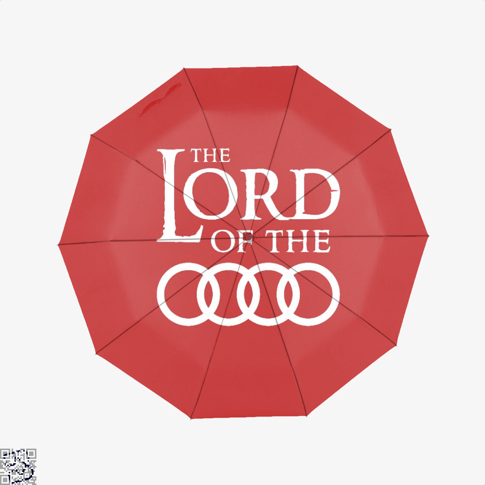Lord Of The Roads Rings Umbrella - Red - Productgenapi
