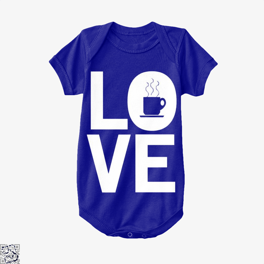Love Coffee Baby Onesie - Navy / 0-3 Months - Productgenapi