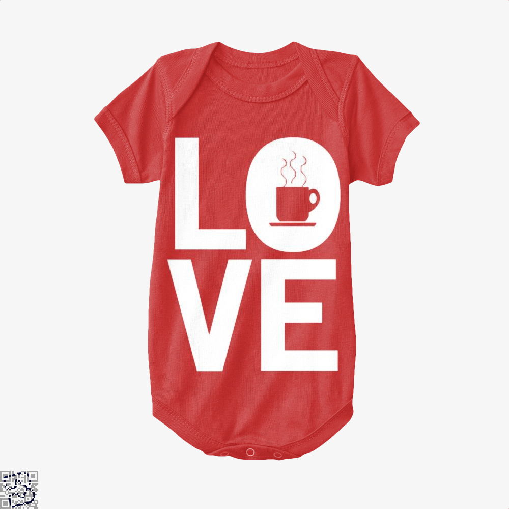 Love Coffee Baby Onesie - Red / 0-3 Months - Productgenapi