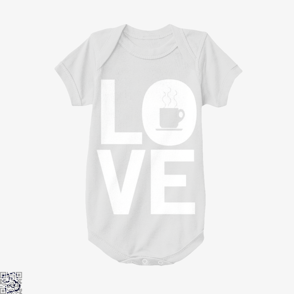 Love Coffee Baby Onesie - White / 0-3 Months - Productgenapi