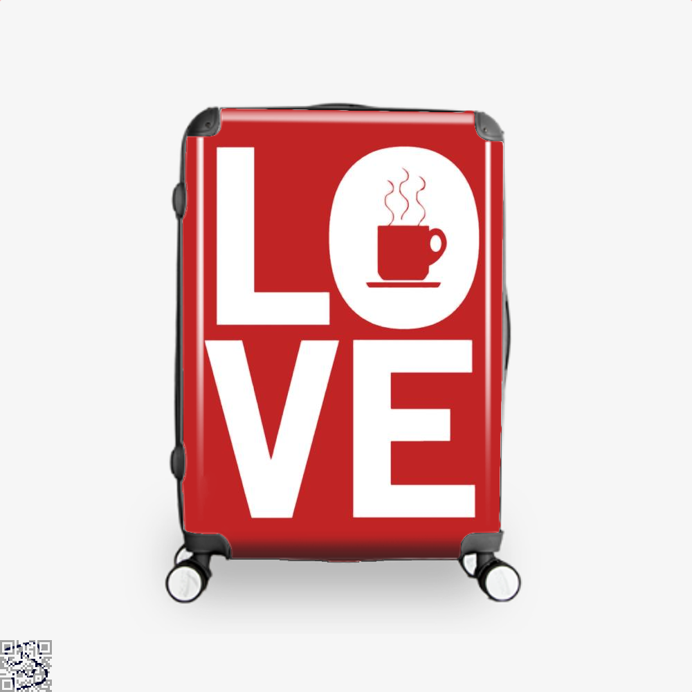 Love Coffee Suitcase - Red / 16 - Productgenapi