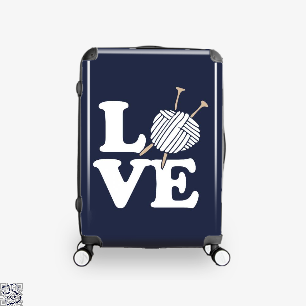 Love Knitting And Crochet Sewing Suitcase - Blue / 16 - Productgenjpg