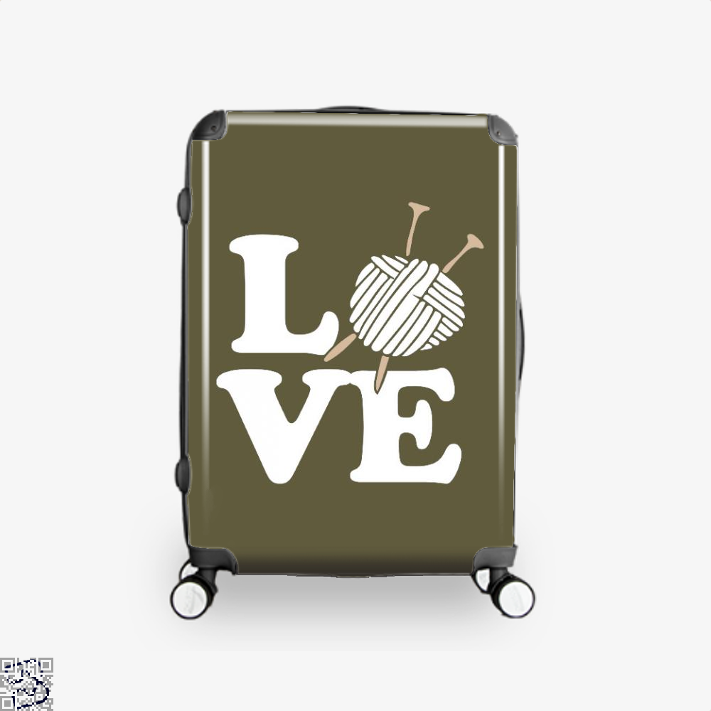 Love Knitting And Crochet Sewing Suitcase - Brown / 16 - Productgenjpg