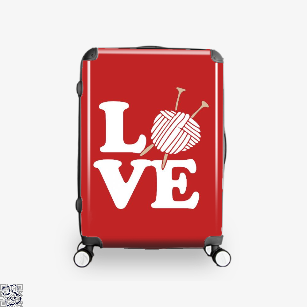 Love Knitting And Crochet Sewing Suitcase - Red / 16 - Productgenjpg