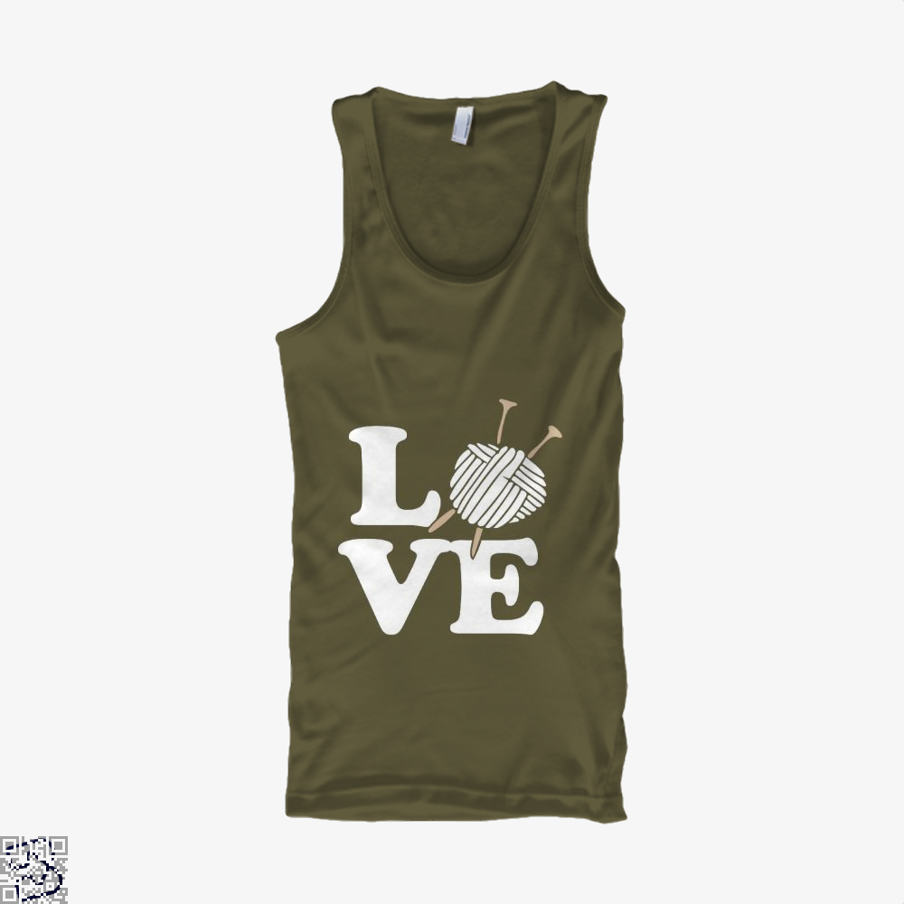 Love Knitting And Crochet Sewing Tank Top - Men / Brown / X-Small - Productgenjpg