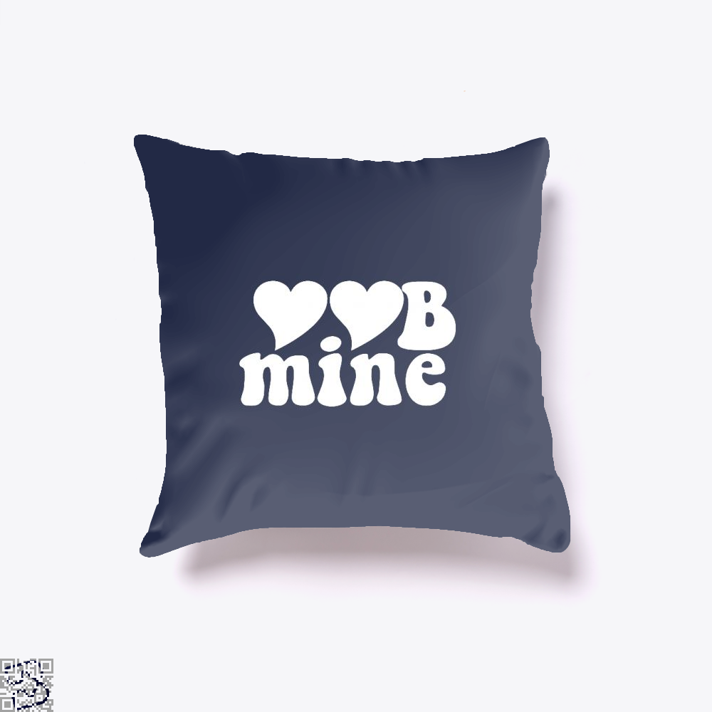Love Mine Valentines Day Throw Pillow Cover - Blue / 16 X - Productgenjpg