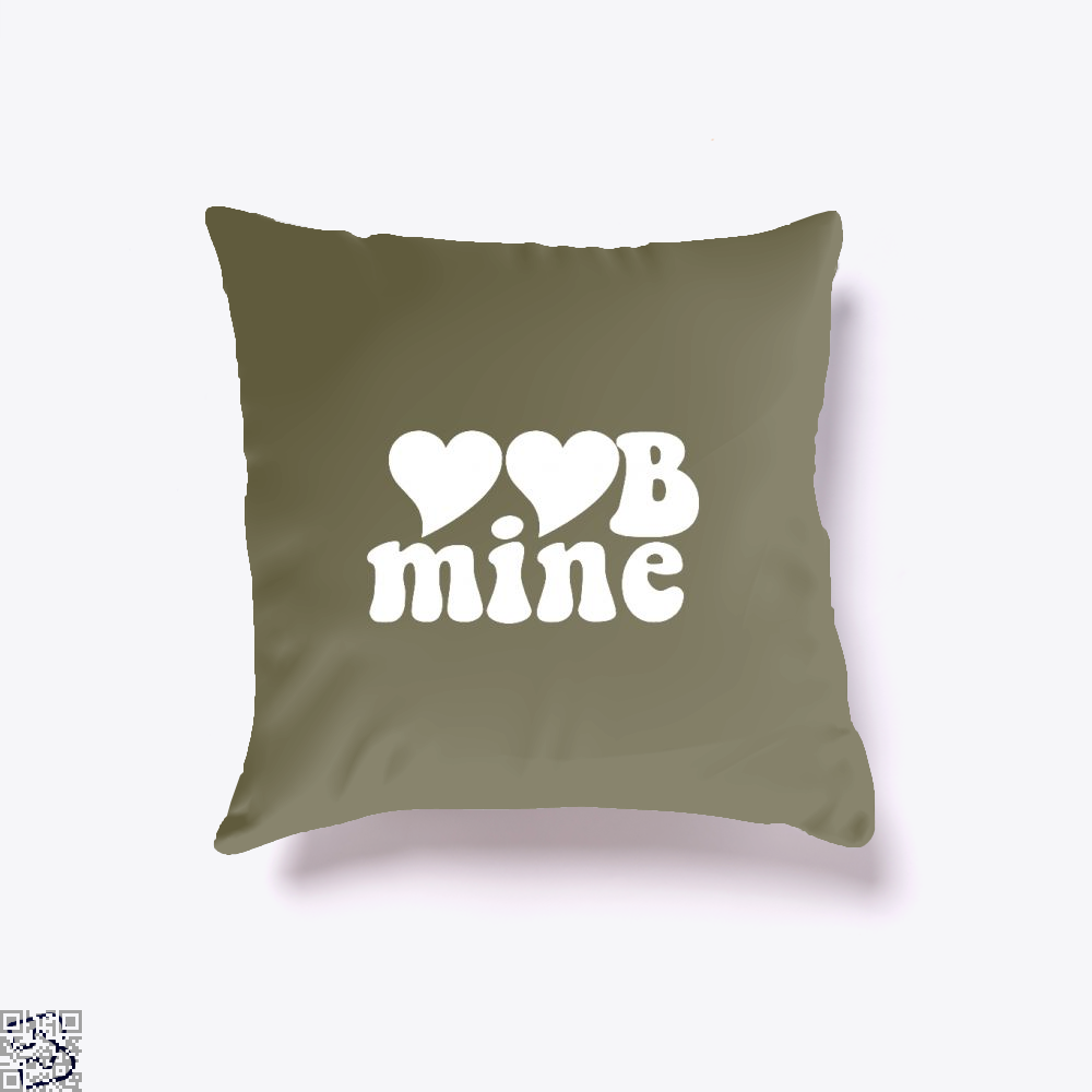 Love Mine Valentines Day Throw Pillow Cover - Brown / 16 X - Productgenjpg
