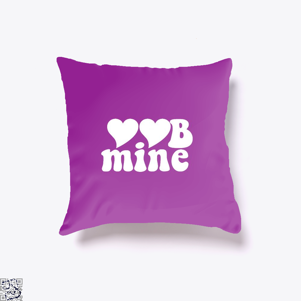Love Mine Valentines Day Throw Pillow Cover - Purple / 16 X - Productgenjpg