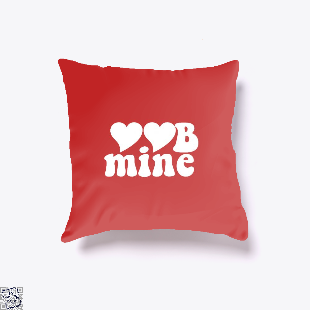 Love Mine Valentines Day Throw Pillow Cover - Red / 16 X - Productgenjpg