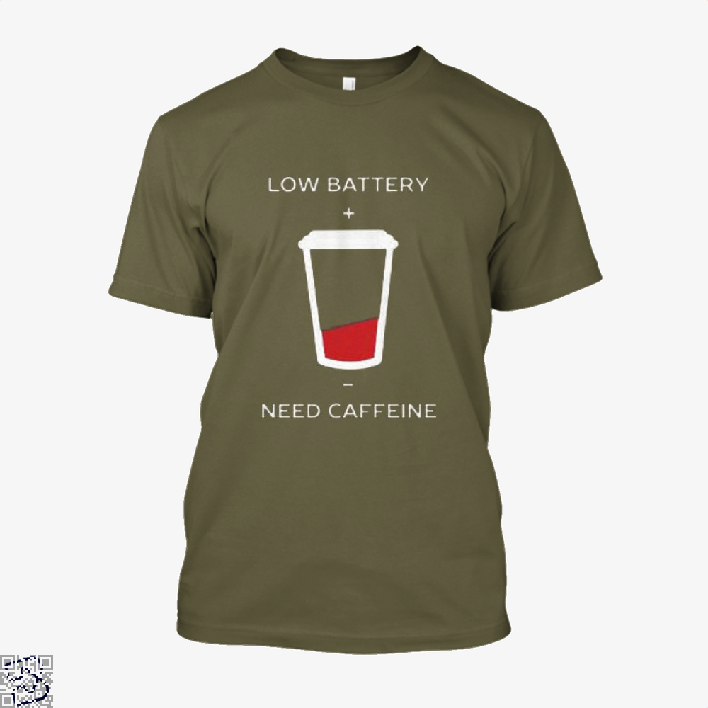 Low Battery Need Caffeine Coffee Shirt - Men / Brown / X-Small - Productgenapi