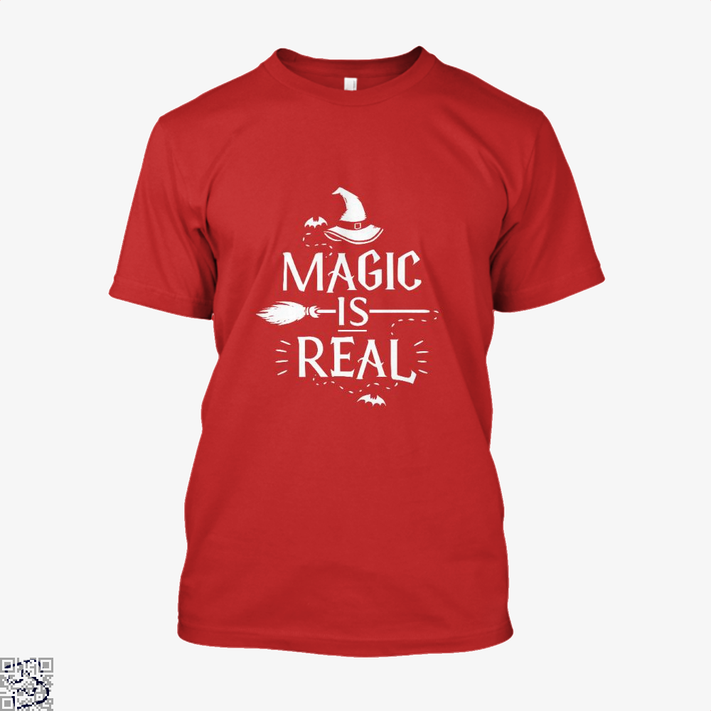 Magic Is Real Halloween Witch Shirt - Men / Red / X-Small - Productgenjpg