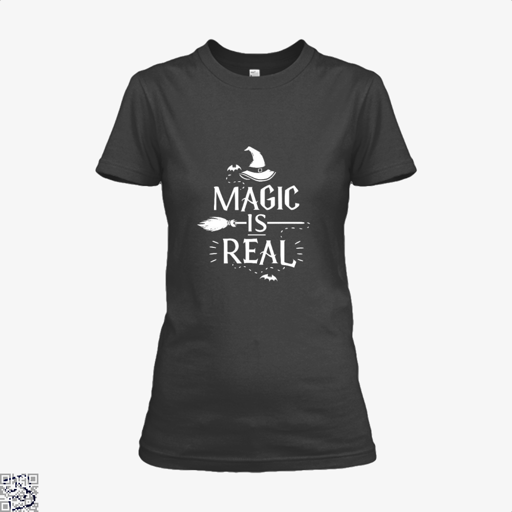Magic Is Real Halloween Witch Shirt - Women / Black / X-Small - Productgenjpg