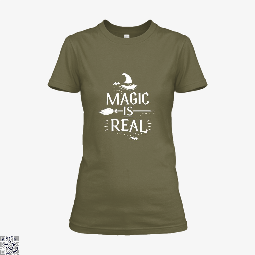 Magic Is Real Halloween Witch Shirt - Women / Brown / X-Small - Productgenjpg