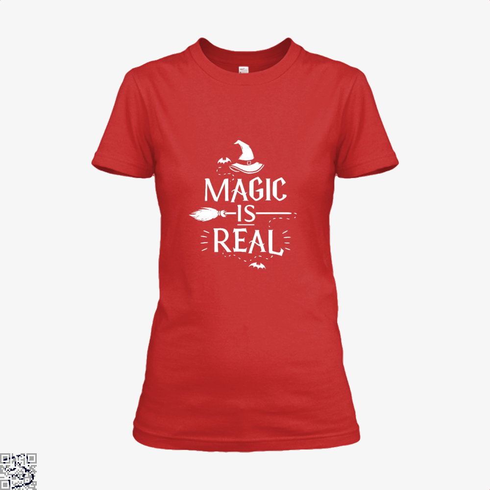 Magic Is Real Halloween Witch Shirt - Women / Red / X-Small - Productgenjpg