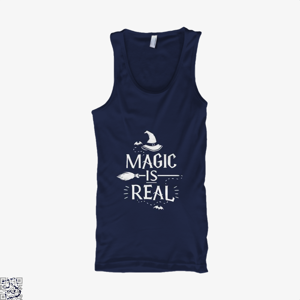 Magic Is Real Halloween Witch Tank Top - Men / Blue / X-Small - Productgenjpg