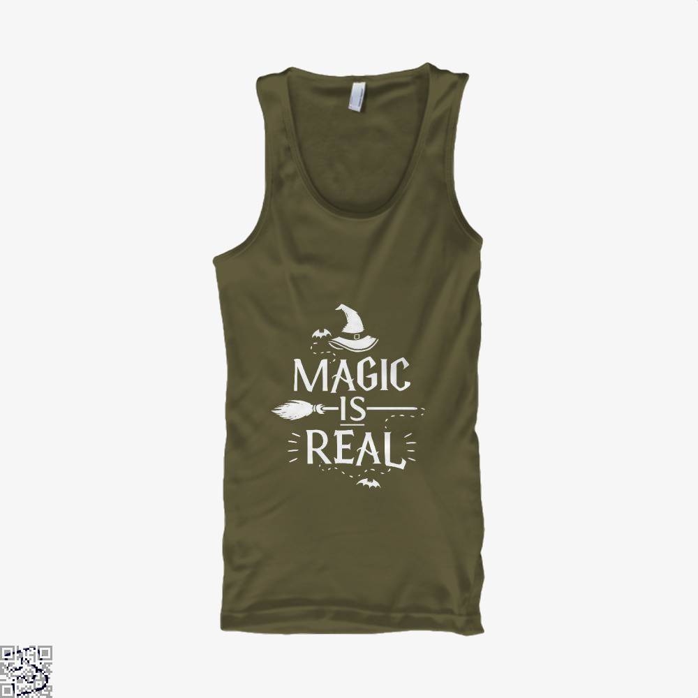 Magic Is Real Halloween Witch Tank Top - Men / Brown / X-Small - Productgenjpg