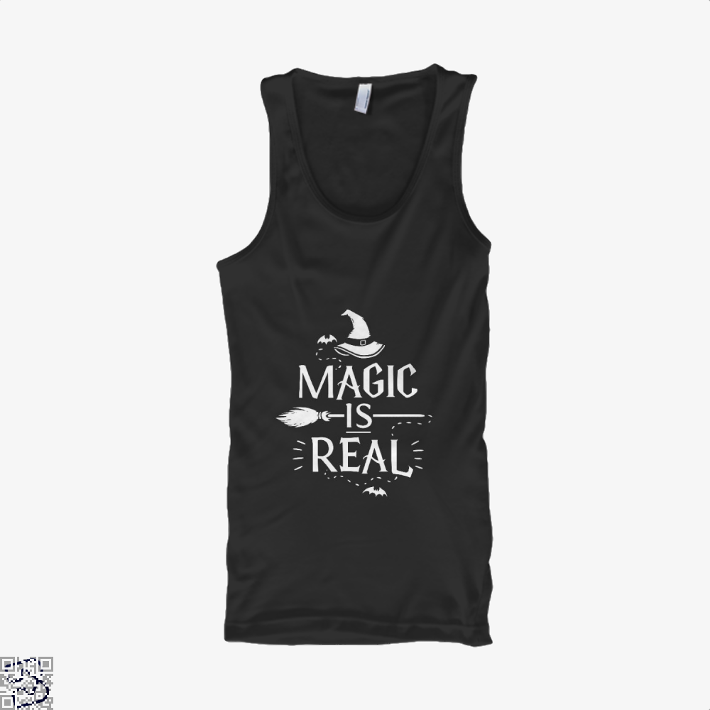 Magic Is Real Halloween Witch Tank Top - Women / Black / X-Small - Productgenjpg