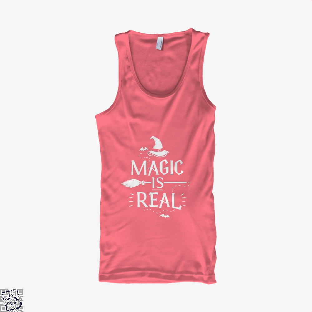Magic Is Real Halloween Witch Tank Top - Women / Pink / Xx-Small - Productgenjpg