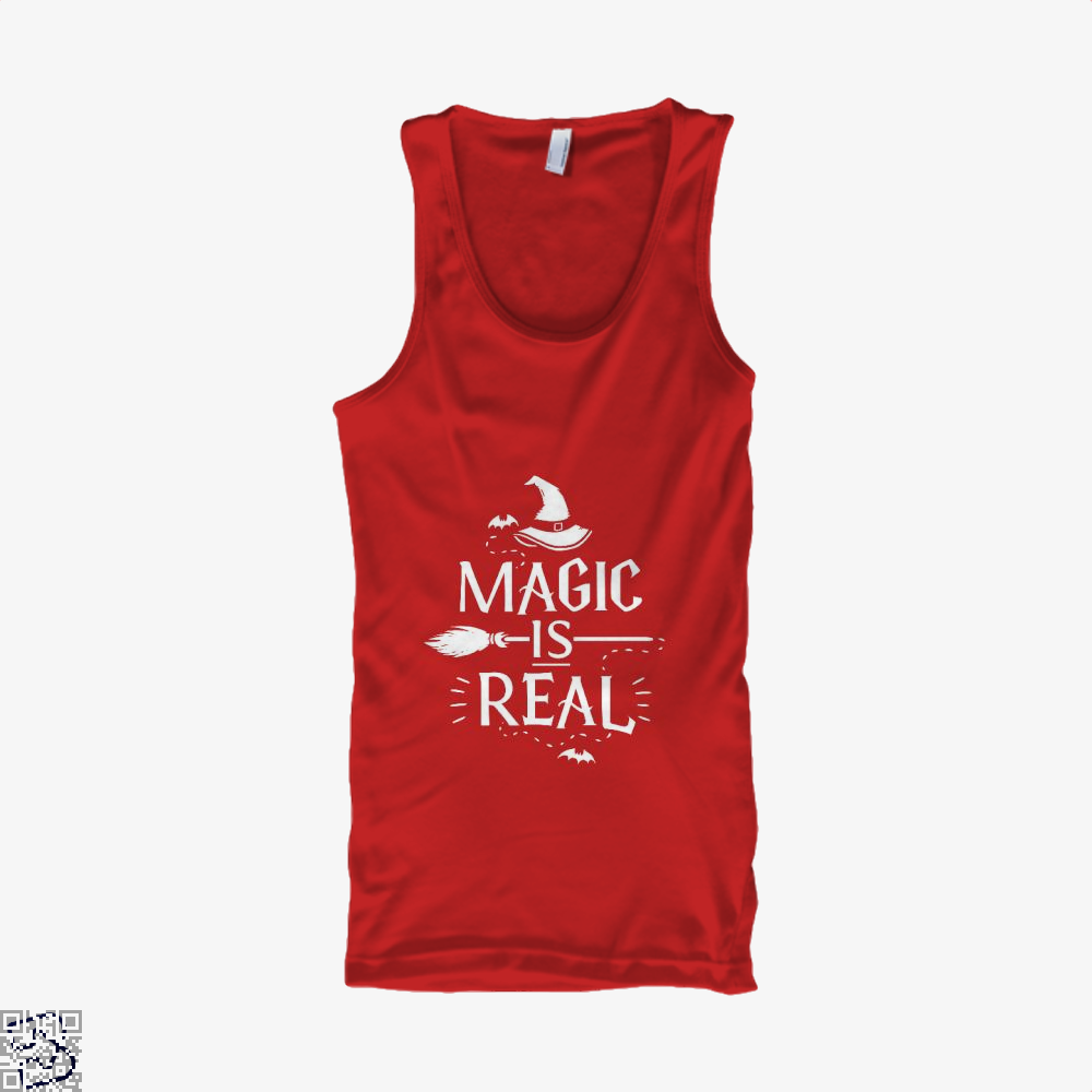 Magic Is Real Halloween Witch Tank Top - Women / Red / X-Small - Productgenjpg