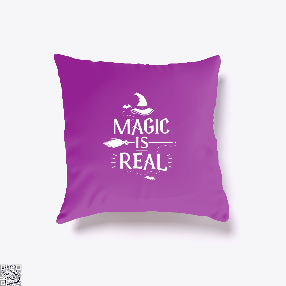 Magic Is Real Halloween Witch Throw Pillow Cover - Purple / 16 X - Productgenjpg