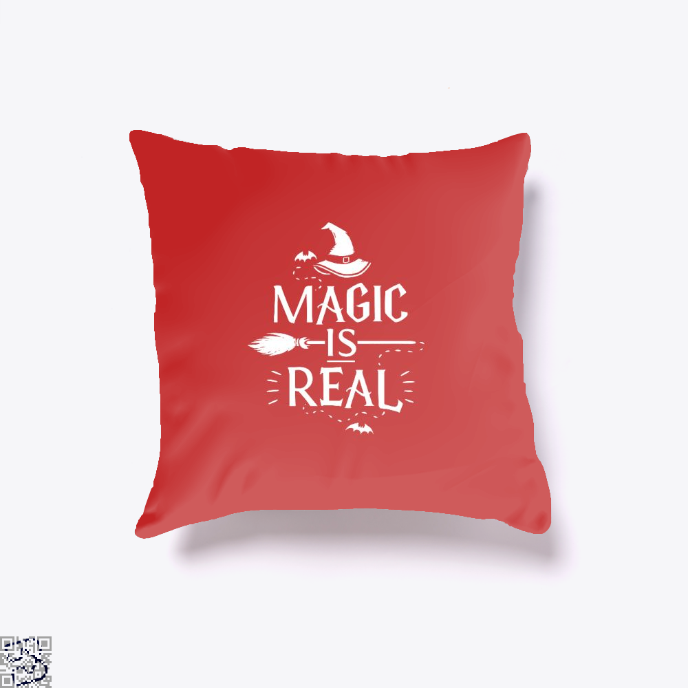 Magic Is Real Halloween Witch Throw Pillow Cover - Red / 16 X - Productgenjpg