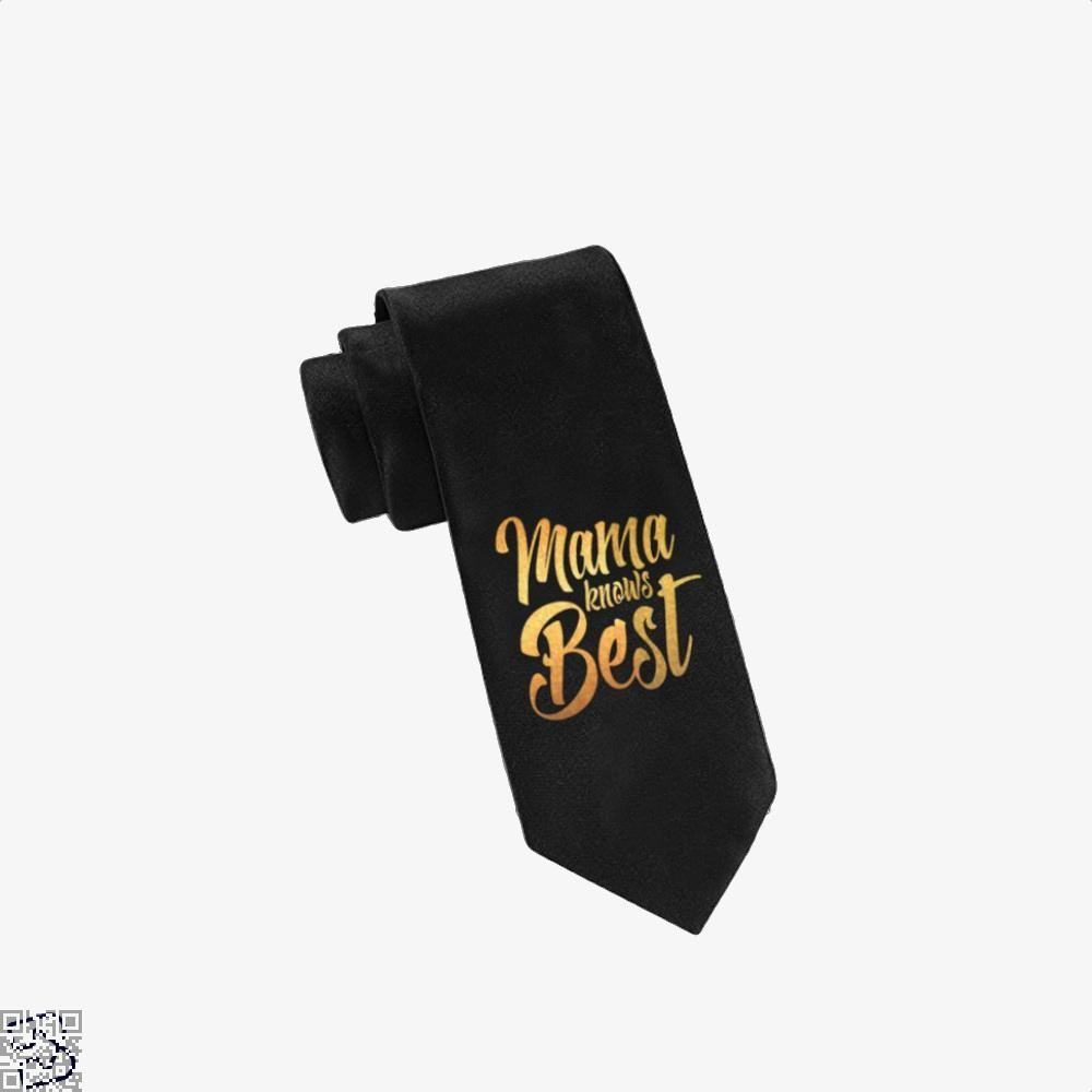 Mama Knows Best Mothers Day Tie - Black - Productgenjpg