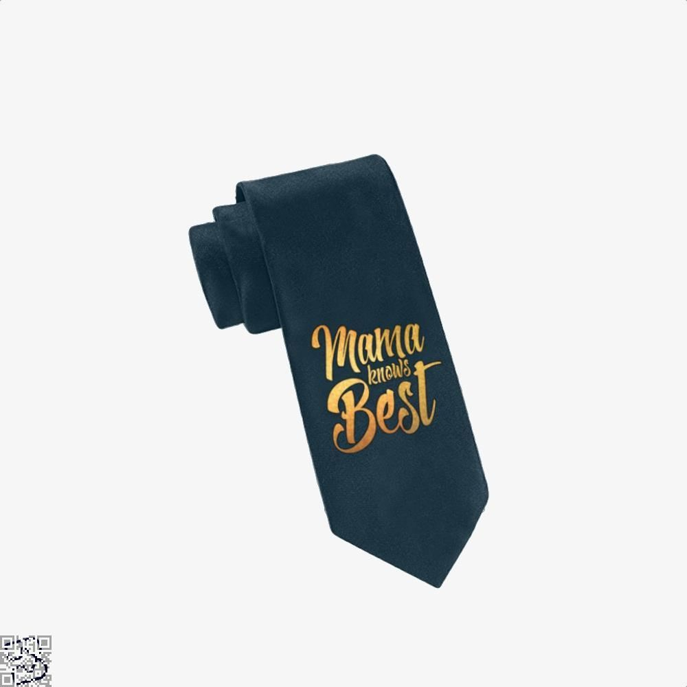 Mama Knows Best Mothers Day Tie - Navy - Productgenjpg
