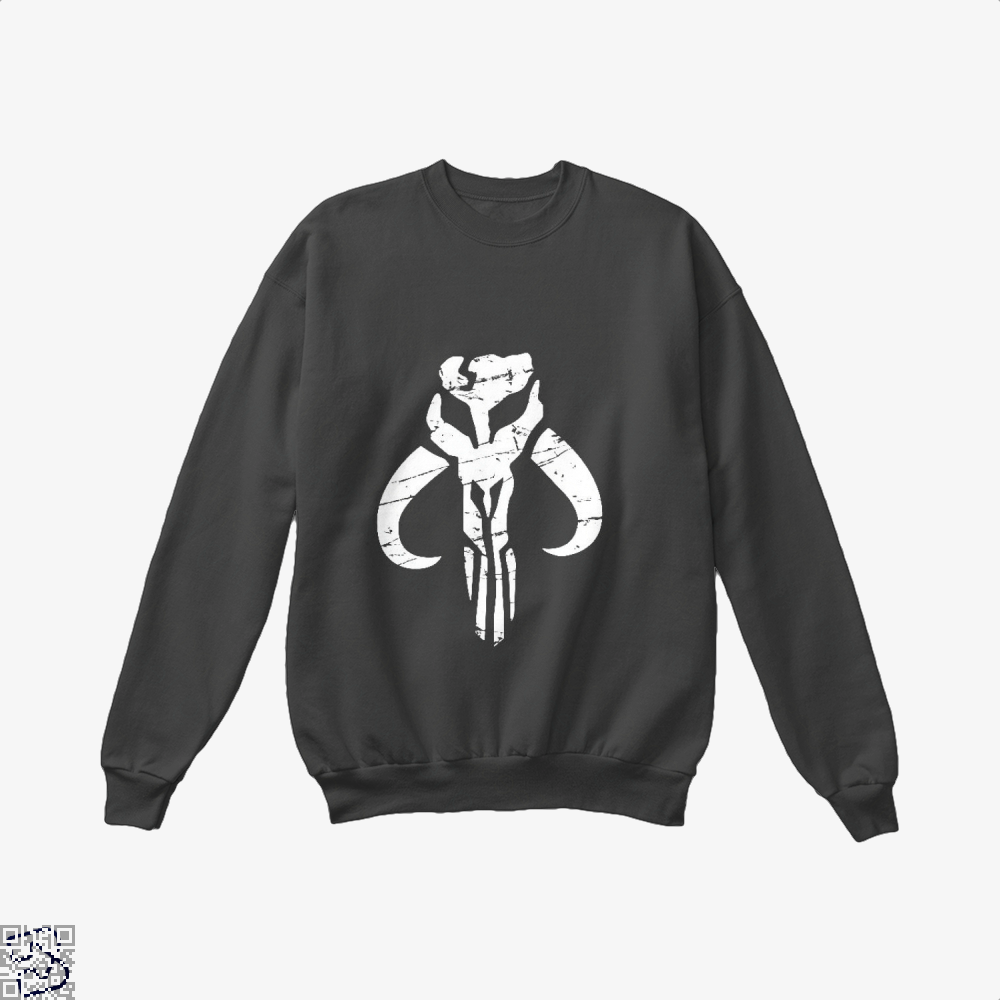 Mandalorian Star Wars Crew Neck Sweatshirt - Black / X-Small - Productgenapi