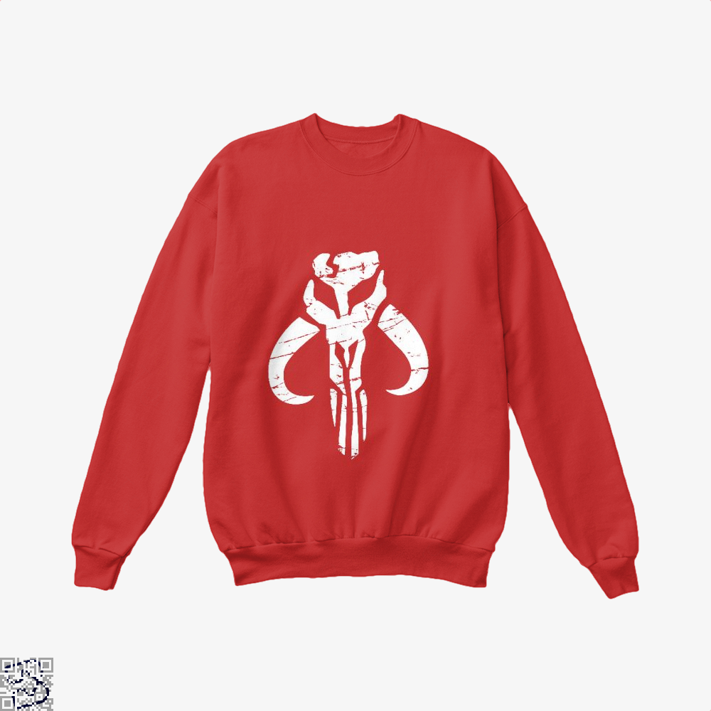 Mandalorian Star Wars Crew Neck Sweatshirt - Red / X-Small - Productgenapi