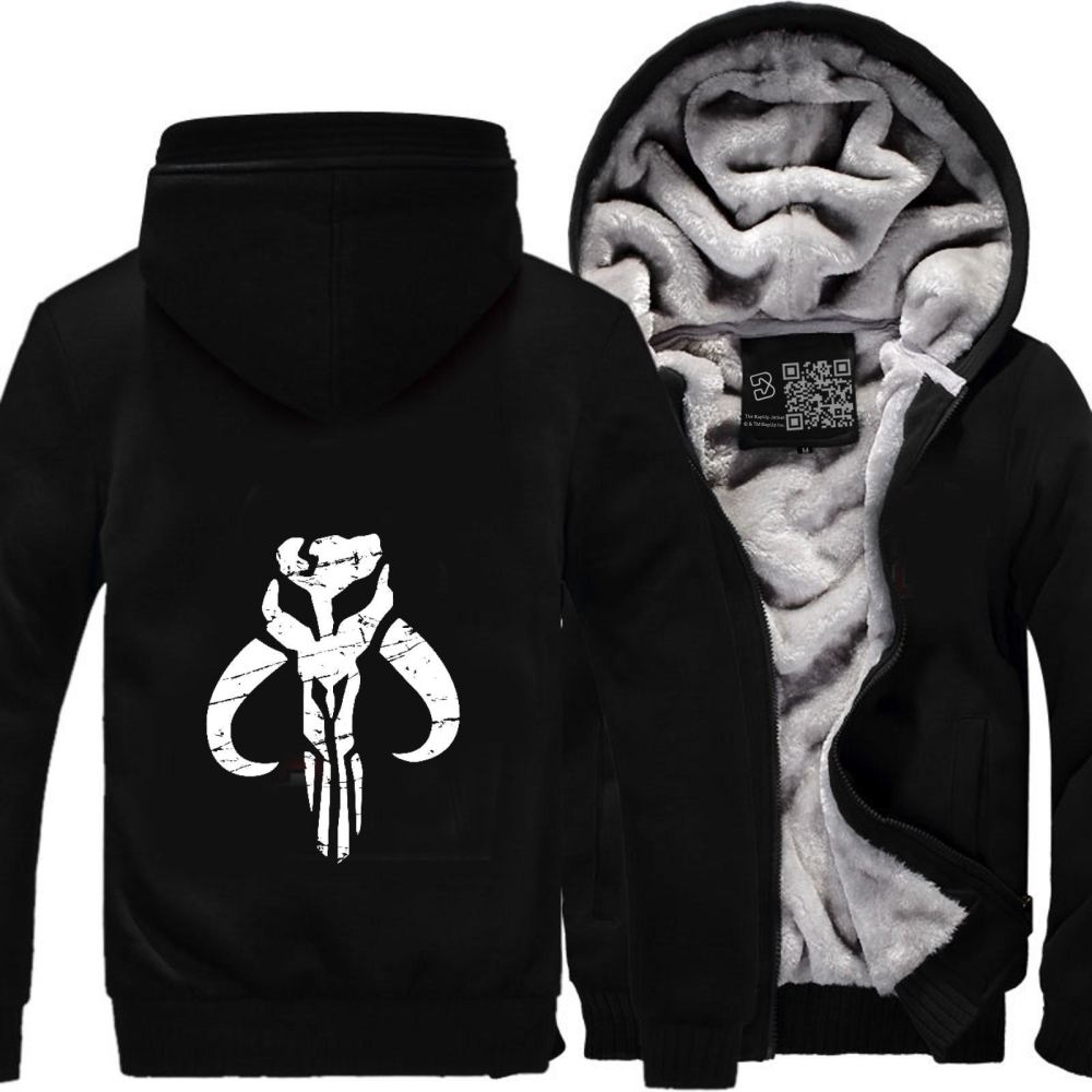 Mandalorian Star Wars Fleece Jacket - Black / X-Small - Productgenapi