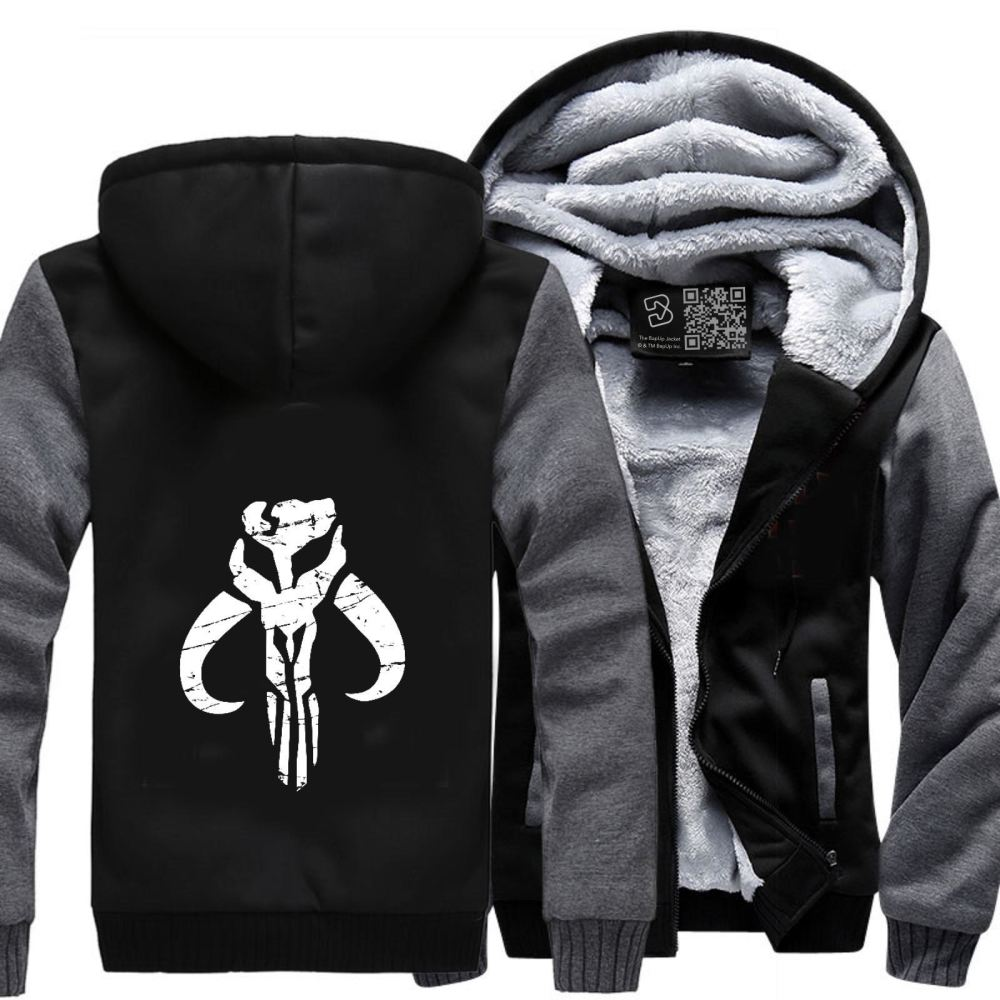 Mandalorian Star Wars Fleece Jacket - Gray / X-Small - Productgenapi