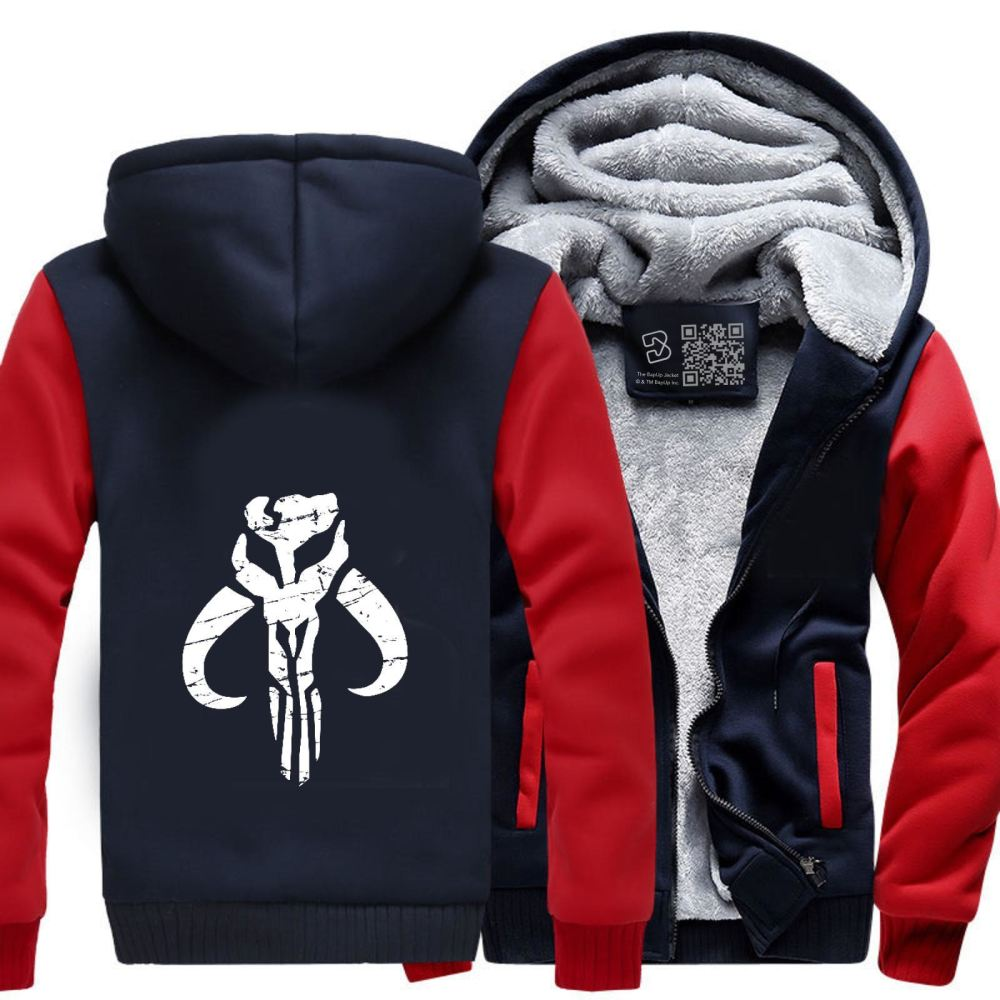 Mandalorian Star Wars Fleece Jacket - Red / X-Small - Productgenapi